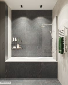Bathroom Interior, Wall Design, Bathtub, Loft, Inspiration, Furniture, Home Decor, Style, Showers