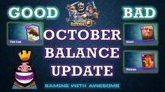 Clash Royale - New October Balance Update (10/20) | Poison & Giant Nerfe...
