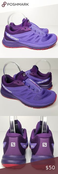 Details about SALOMON SENSE PRO MAX W women's trail running purple athletic shoes 7.5 US new
