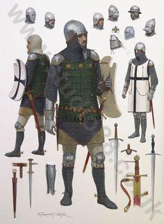 Studio 88 Limited Teutonic Knight, 14th Century - Original Painting