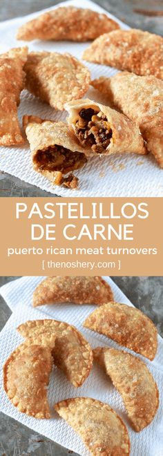 de carne are a Puerto Rican street food staple. This recipe is made with a homemade dough and flavor-packed beef filling.Pastelillos de carne are a Puerto Rican street food staple. This recipe is made with a homemade dough and flavor-packed beef filling. Puerto Rican Dishes, Puerto Rican Cuisine, Puerto Rican Recipes, Mexican Food Recipes, Beef Recipes, Cooking Recipes, Pasteles Puerto Rico Recipe, Latin Food Recipes, Dominican Food Recipes