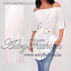 5f42e95fa9 Fehér lenge ujjánál megkötős női tunika - AdryFashion női ruha webáruház,  Ruha webshop, Amnesia, NedyN, Rensix , Egyedi ruha