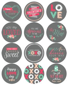 Free Printable Valentines Day Labels