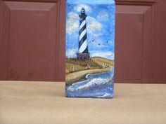 Painting on brick tutorial Painted Bricks Crafts, Brick Crafts, Painted Pavers, Stone Crafts, Painted Rocks, Painting Concrete, Stone Painting, Painting Canvas, Brick Art