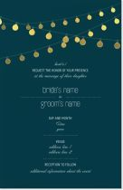 bistro lights lights Invitations & Announcements