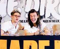 I'd like to know what stupid remark Nialler said to make Harry laugh because the suspense is killing me