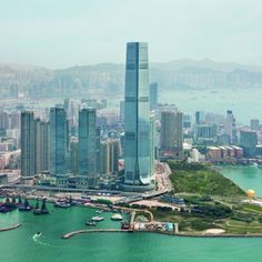 The tallest building in Hong Kong—designed by Kohn Pederson Fox Associates—is now the site of the highest hotel in existence: the Ritz-Carlton, Hong Kong.