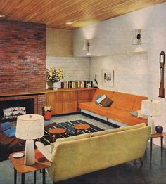 Better Homes & Garden 1962 Love the rug, pretty much all of it but all the colours are a bit dated