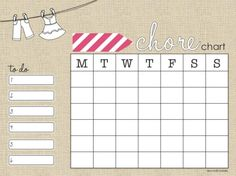 21 Chore Cards and Chore Charts to Print