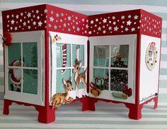Christmas Panel inspired by Pamela Stoner...details @Ramblingrosestudio.com