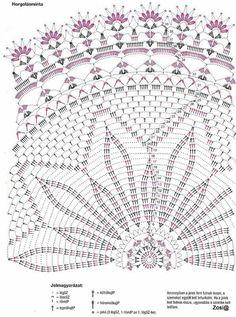 "Photo from album ""Diana filehorgolas on Yandex. Free Crochet Doily Patterns, Crochet Mat, Crochet Doily Diagram, Crochet Dollies, Crochet Circles, Crochet Mandala, Thread Crochet, Filet Crochet, Crochet Stitches"