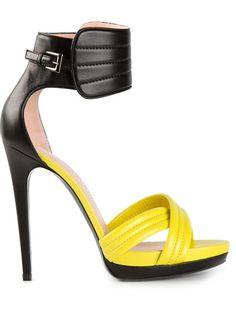 BARBARA BUI Ankle Cuff Sandal-ha! Represent for my Steelers!!