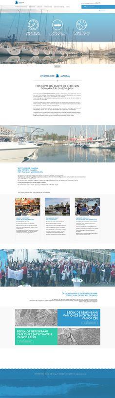 Westhinder Marina Zeebrugge - webdesign. www.westhindermarina.be Desktop Screenshot