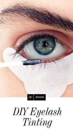 Eyelash tinting is for people who like their lashes black, but find mascara to be the Tar of Satan. We put together 8 easy steps on how to do it yourself. Eyebrow And Eyelash Tint, Eyelash Tinting, Eyebrow Tinting, Bronzer, Concealer, Eyelash Lift And Tint, Applying Eye Makeup, Evening Makeup, Natural Eyelashes