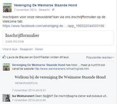 Vereniging De Weimarse Staande Hond - Promotie inschrijven via Facebook (https://www.facebook.com/vereniging.de.weimarse.staande.hond)