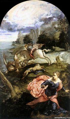 Тинторетто. Святой Георгий и дракон, 1565