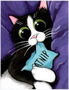 Lisa Marie Robinson Postcards Catnip Addict