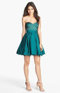 Aidan Mattox Strapless Taffeta Fit & Flare Dress (Online Only) available at #Nordstrom