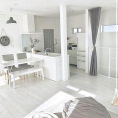 Interior Design Kitchen, Kitchen Decor, Korean Apartment Interior, Interior Minimalista, Room Design Bedroom, Living Room Modern, Minimalist Home, Room Decor, House Design