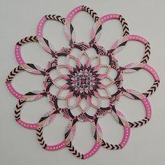 Mandala Rosa Gorobets  Pink Mandala Gorobets Wooden mandala painted in acrylic.  Size: 85cm x 85cm Acrylic Brazil 2014