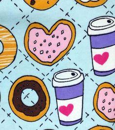Snuggle Flannel Fabric Cookies & CoffeeSnuggle Flannel Fabric Cookies & Coffee,