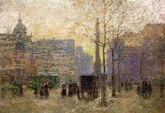 View of New York at 59th Street - Paul Cornoyer - The Athenaeum