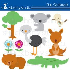 The Outback- Australian Animals Personal and Commecial Use Clipart - INSTANT DOWNLOAD via Etsy