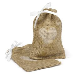 Hortense B. Hewitt Burlap Favor Bags Wedding Accessories, Heart, Set of 25 >>> Trust me, this is great! Click the image. : Wrapping Ideas