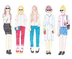 Illustrators, Doodles, Girly, Concept, Idea Paint, Drawings, Drawing Fashion, Cute, Fashion Illustrations