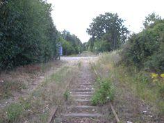 Ancienne voie ferrée Angers-Segré...plus aucun train de frêt depuis 2007..