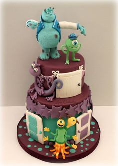 MONSTER UNIVERSITY!!! The monstrous cake for my little princess!!!  Lara Costantini https://www.facebook.com/pages/Cucina-Amore-Mio-Lara-Cos...