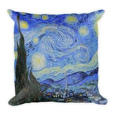 Vincent van Gogh The Starry Night Square Throw Pillow