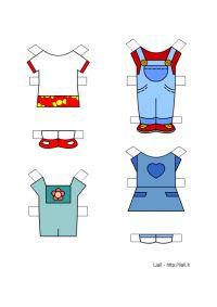 I vestiti di Susanna - bamboline di carta da ritagliare
