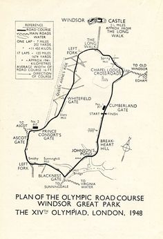 Olympic Road Cycling Course 1948