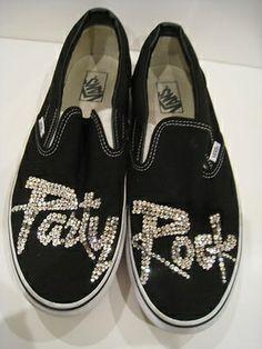 LMFAO Party Rock VANS Shoes Black swarovski crystals sz 11 mens 21 JUMP STREET