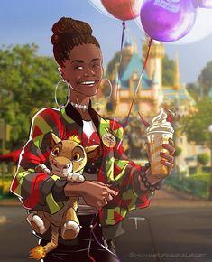 Black Panther: Shuri Goes To Disneyland
