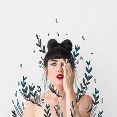 Artista faz encantadoras combinações entre fotografias e ilustrações