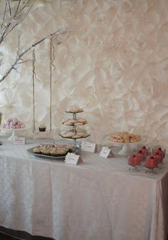 Secret Garden Birthday Party - love the backdrop