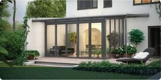 Synseal glass extension with bi-fold doors Extension Veranda, Porch Extension, Glass Extension, Extension Designs, Extension Ideas, Outdoor Rooms, Indoor Outdoor, Kalter Winter, Glass Porch