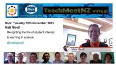 TeachMeetNZ - Nicoll_Matt2 Video Link, Presentation, Student, Science, Learning, Studying, Teaching, Onderwijs