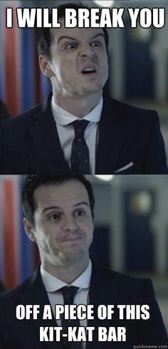 Misleading moriarty. #Sherlock  hahaha I love this meme. Oh Moriarty #favouritevillain