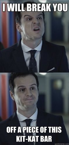 Sherlock. OMG Moriarty you are adorable. I can't handle how amazing you are.