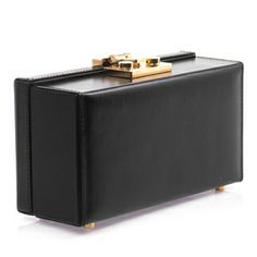 This Micro Mallettes black leather clutch, just launchedfrom Saint Laurent is a play on the traditional briefcase.  £1,065.00