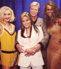 Gwen Stefani, Lisa Marie Presley, Bowie and Iman