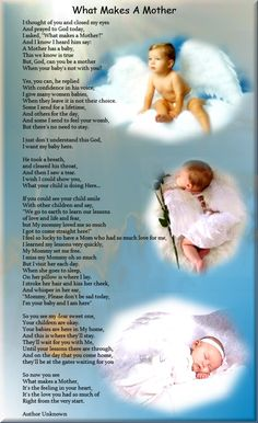 What Makes A Mother - Poem For Bereaved Parents