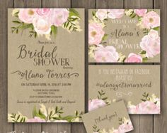Bridal shower INVITATION Rustic Garden shower by DigitalPrintShop