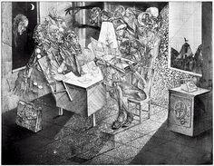 Иллюстрации Каспера Божека (Kacper Bożek). Римский, Варенуха и Гелла.