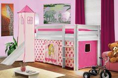 SixBros. Kids Letto rialzato Principessa con torre e scivolo pino massiccio verniciato/bianco - rosa - SHB/400 di SixBros. Kids, http://www.amazon.it/dp/B004QMFK2G/ref=cm_sw_r_pi_dp_miNAsb14XGV0E