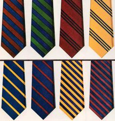 Linen to tweed. Flannel to seersucker. No matter what the season, one can never go wrong with any of these ties. (Brooks Brothers Fall & Winter 1981).