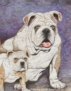 "close up, ""Family Resemblance"" by Patt Blair (California).  2014 Road to California, Faculty.  Photo by Quilt Inspiration."